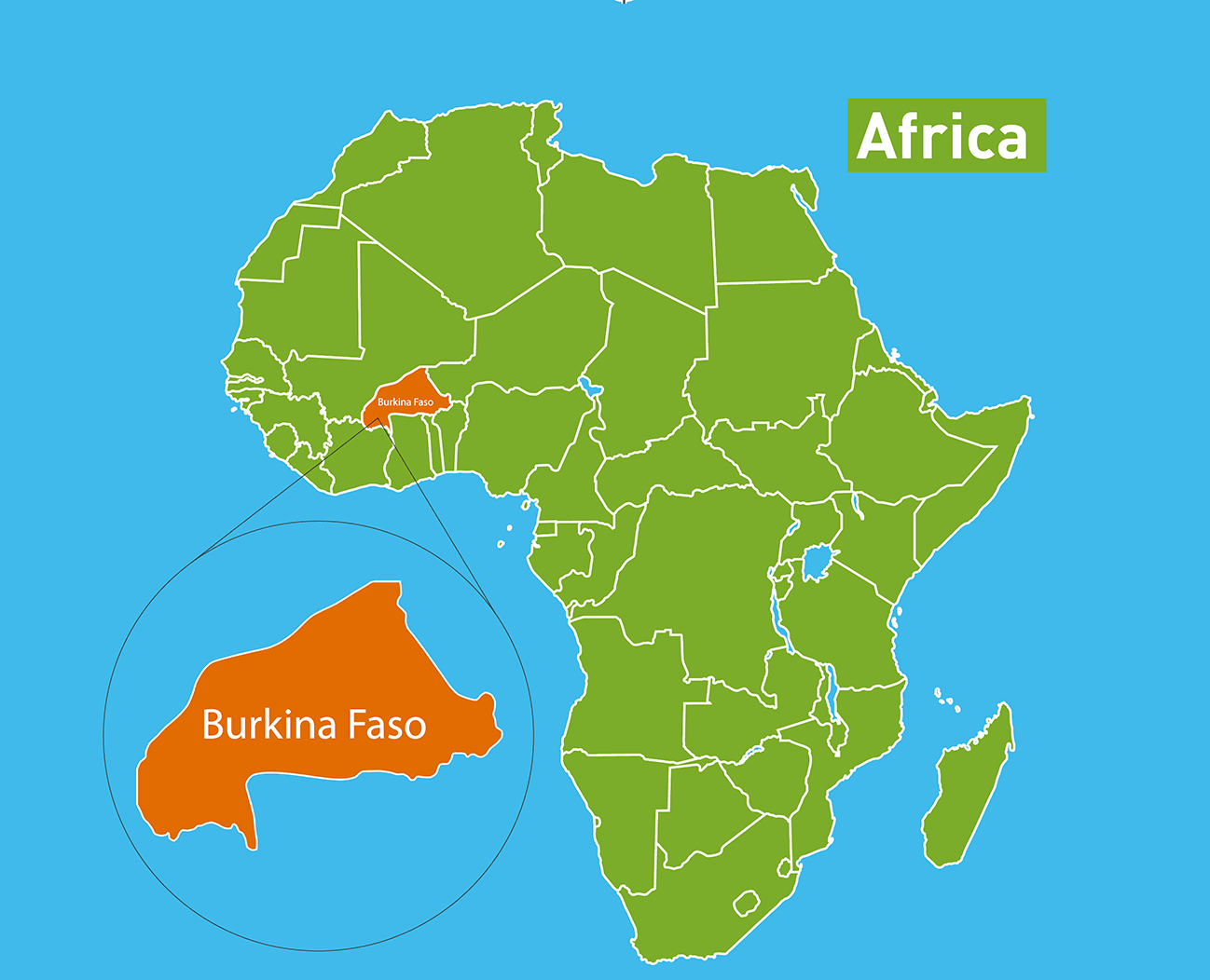 Burkina Faso location