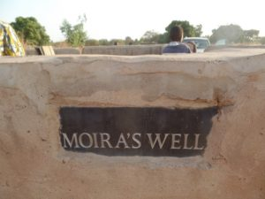 Moira's Well plaque one year on