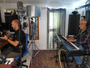 Tevor Burch at the keyboard