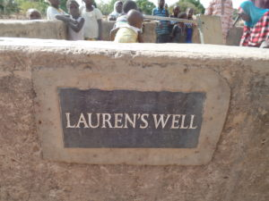 We care about how our wells are looked after in Burkina Faso Lauren's well